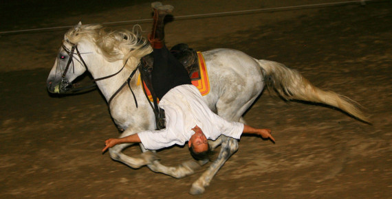 Acrobatics on real Cossack horses