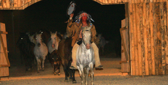 60 paarden in het fort van st. Jean